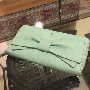 Mint Kate Spade Wallet with Bow front